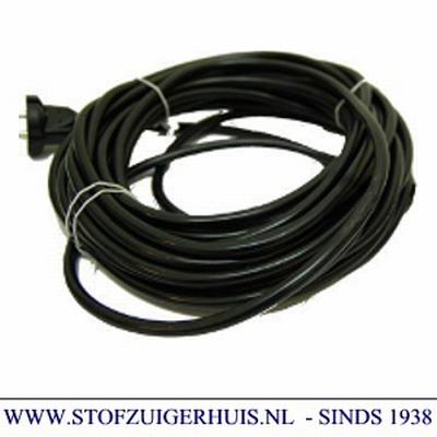 Stofzuiger aansluit snoer 15 meter, zwart, 2 x 0,75mm