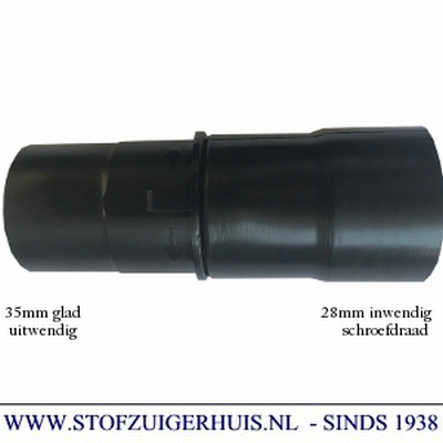 Aansluitmof 28-35mm (2-delig) zwart pvc