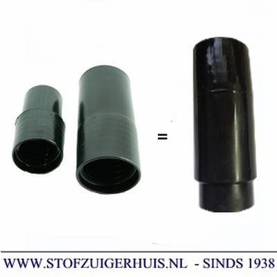 Verlengmof 28-32mm (2-delig) zwart pvc