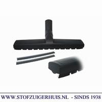 Bedrijfszuigmond 38mm, met borstel- en dweilstrips - 40cm