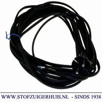 Stofzuiger aansluit snoer plat 10 meter, zwart, 2 x 0,75mm