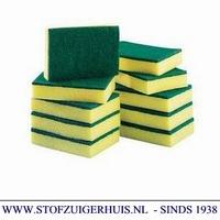 Schuurspons groot geel / groen (10)