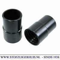 Schroefmof 51mm zwart pvc Spiraalslang Superflextract