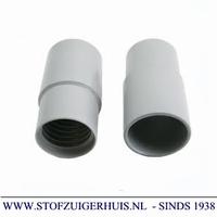 Schroefmof 38mm - 51mm grijs PVC