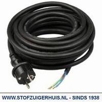 Neopreen Zwart aansluitsnoer H07 3 x 1.5mm² (VDE) 10 meter