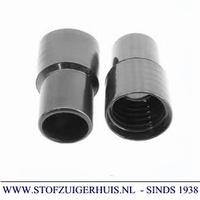 Schroefmof 38mm zwart PVC