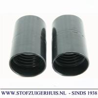 Verlengmof 38mm - 38mm zwart PVC