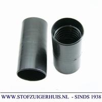 Verlengmof 32mm - 32mm zwart PVC