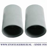 Verlengmof 51mm - 51mm grijs PVC