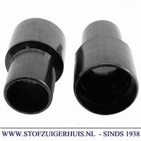 Schroefmof 51mm zwart pe